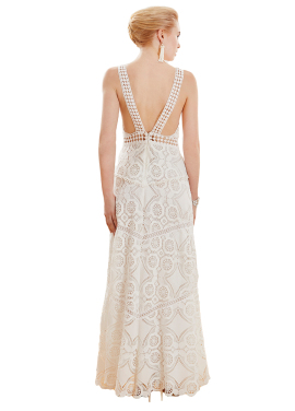 Eveline White Evening Gown
